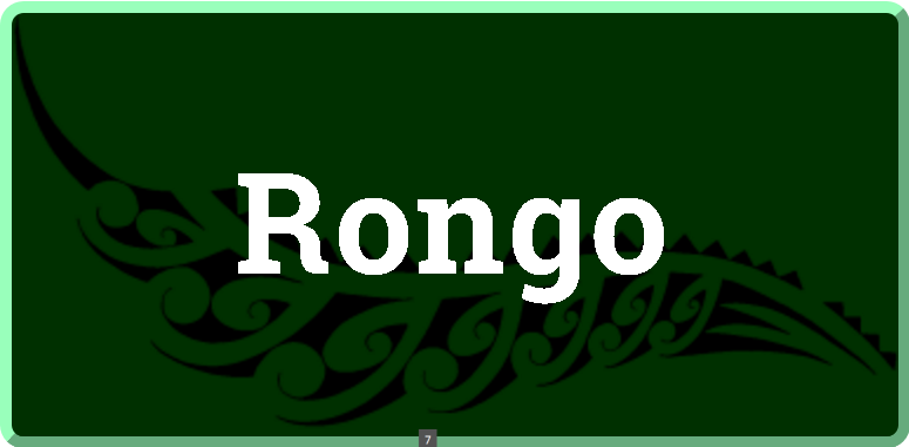 Rongo: God of peace